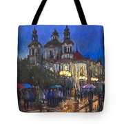 Prague Old Town Square St Nikolas Ch Tote Bag by Yuriy  Shevchuk