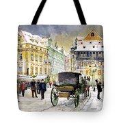Prague Old Town Square Winter Tote Bag