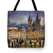 Prague Old Town Squere After Rain Tote Bag