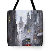 Prague Old Tram 03 Tote Bag