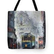 Prague Old Tram 04 Tote Bag