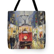 Prague Old Tram 08 Tote Bag