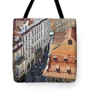 Prague Red Rooftops In The Old Town Tote Bag