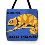 Prague Zoo Chameleon Matchbox Label Tote Bag