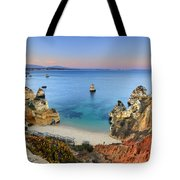 Praia Do Camilo At Sunset  Tote Bag
