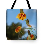 Prairie Cone Flowers Against Blue Sky Vertical Number One Tote Bag