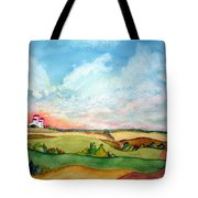 Prairie Grain Elevators Tote Bag