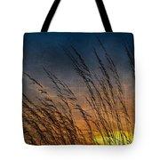 Prairie Grass Sunset Patterns Tote Bag