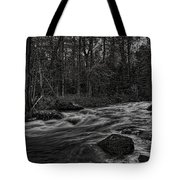 Prairie River Whitewater Black And White Tote Bag