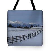 Prairie Snow Tote Bag