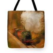 Prairie Train Tote Bag by Skye Ryan-Evans