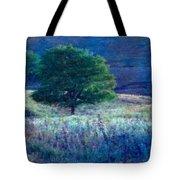 Prairie Trees Impressionistic Grunge Tote Bag