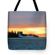 Prairie Winter Sunrise Tote Bag