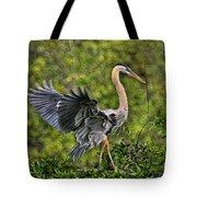 Prancing Heron Tote Bag