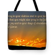 Pray Abundantly Tote Bag