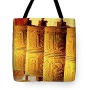 Prayer Wheels Tote Bag