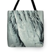 Praying Hands, Also Known As Study Of The Hands Of An Apostle  Tote Bag