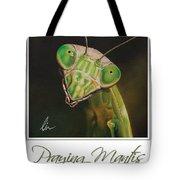 Praying Mantis Poster Tote Bag