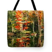 Prentiss Pond, Dorset, Vt., Autumn Tote Bag