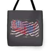 Preamble To The Constitution On Us Map Tote Bag