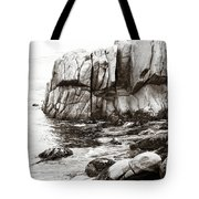 Precarious At Pebble Beach Tote Bag