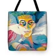 Preciada Azancot Self-portrait With A Dove Tote Bag