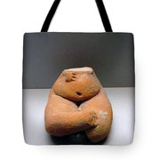 Pregnant Seated Woman Tote Bag