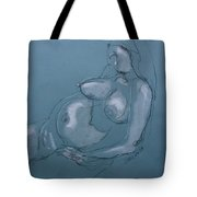 Pregnant Woman II Tote Bag