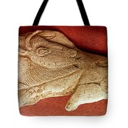 Prehistoric Bison Carving Tote Bag