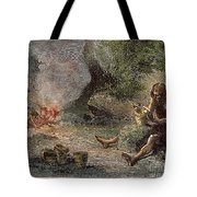 Prehistoric Man: Pottery Tote Bag