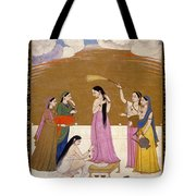 Preparation For The Meet With Lover. Tote Bag