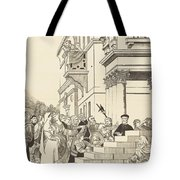 Presentation Of The Virgin In The Temple [center Plate] Tote Bag