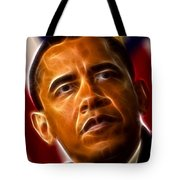 President Barack Obama Tote Bag by Pamela Johnson