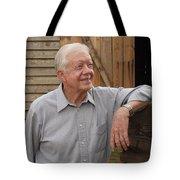 President Carter At His Boyhood Farm Tote Bag