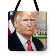 President Donald Trump Art Tote Bag