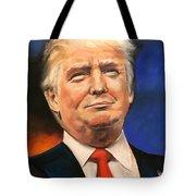 President Donald Trump Portrait Tote Bag