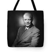 President Dwight Eisenhower Tote Bag by War Is Hell Store