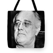 President Franklin Delano Roosevelt Tote Bag by War Is Hell Store