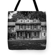 President James Buchanan's Wheatland In Black And White Tote Bag