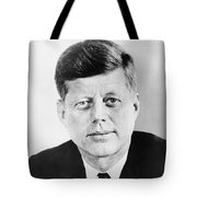 President John F. Kennedy Tote Bag by War Is Hell Store