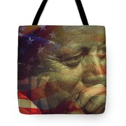 President Kennedy - Digital Art Tote Bag