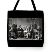President Lincoln And His Cabinet Tote Bag
