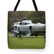 President Obama Walking Toward Marine One Tote Bag