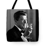President Reagan Making A Toast Tote Bag