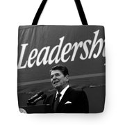President Ronald Reagan Leadership Photo Tote Bag
