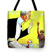 President Woodrow Wilson And The 15th Proposition For The League Of Nations Tote Bag