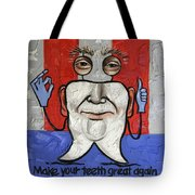 Presidential Tooth 2 Tote Bag by Anthony Falbo