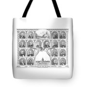 Presidents Of The United States 1776-1876 Tote Bag
