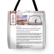 Press Release Carole Spandau Paints Cover Art For Hockeytown Cd By Tim Hus Tote Bag