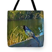 Pretty Bird At A Sunrise Tote Bag